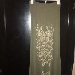 Olive Green Womens Long Dress